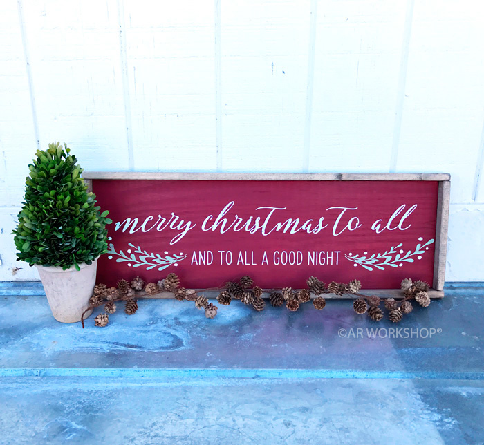 merry christmas to all framed wood sign 1434