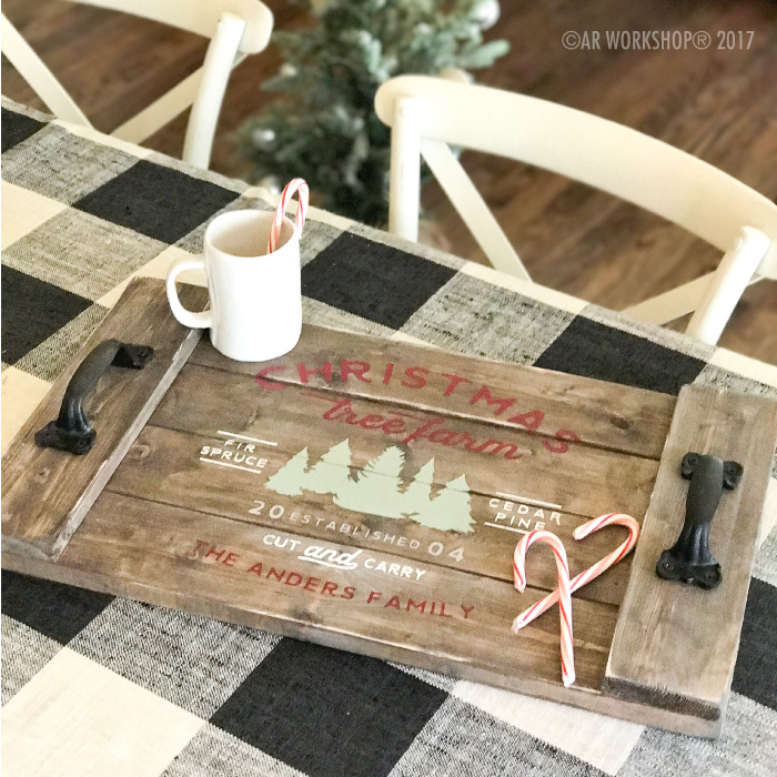 Established Name Christmas Tree Farm Tray