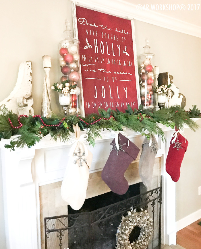 deck the halls with boughs of holly framed sign christmas decor