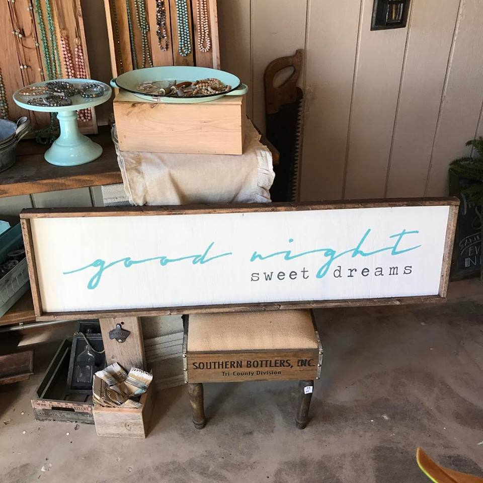 good night sweet dreams over the bed framed sign