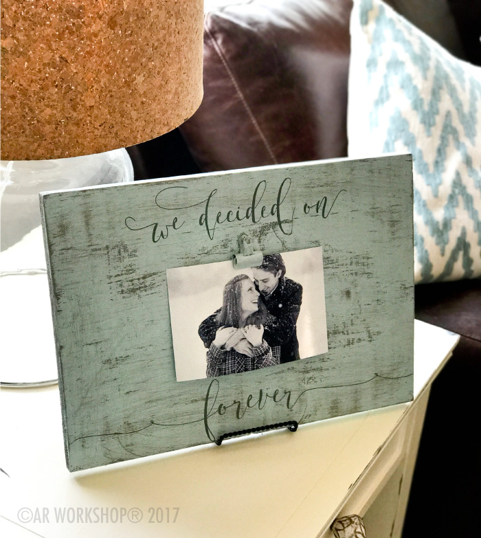We Decided on forever wood photo frame
