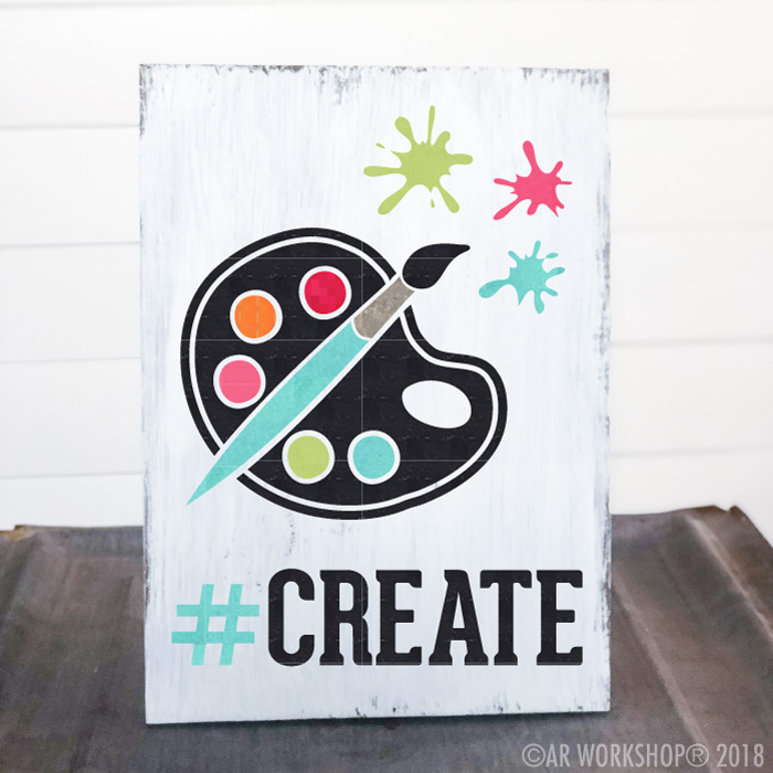create art youth plank sign