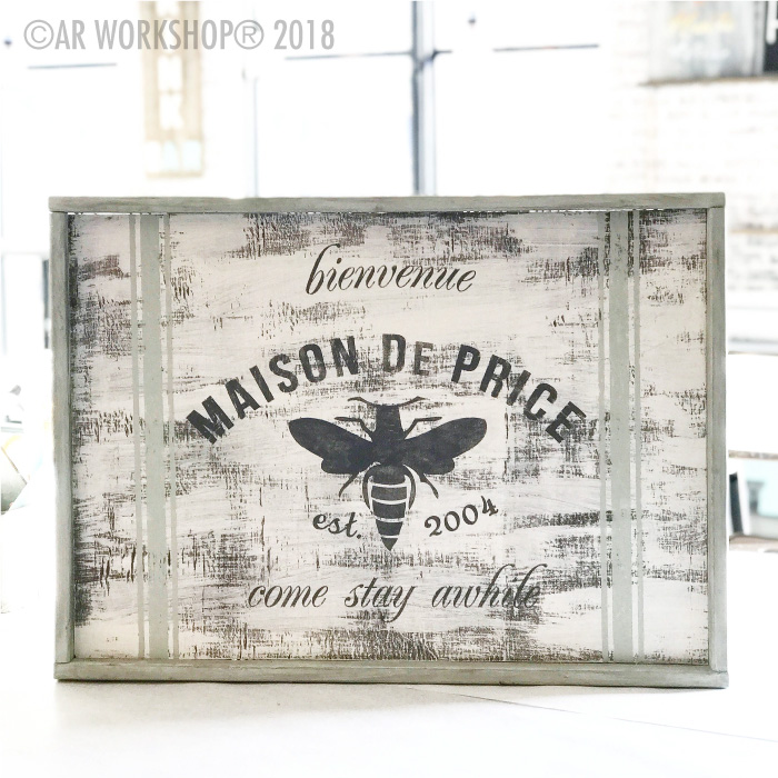 french bee come stay awhile framed sign 18x26