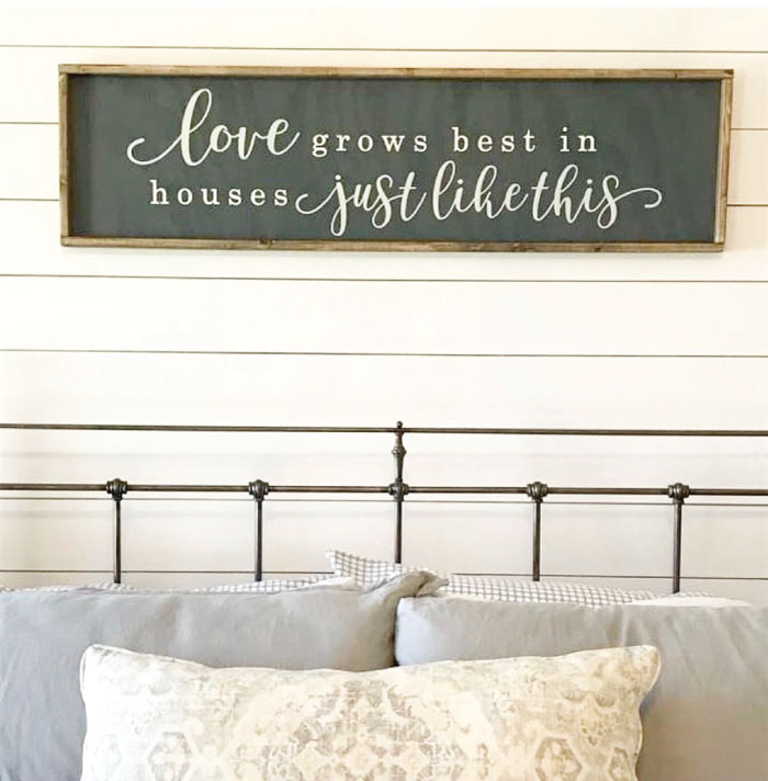 love grows best in houses framed sign 14x34