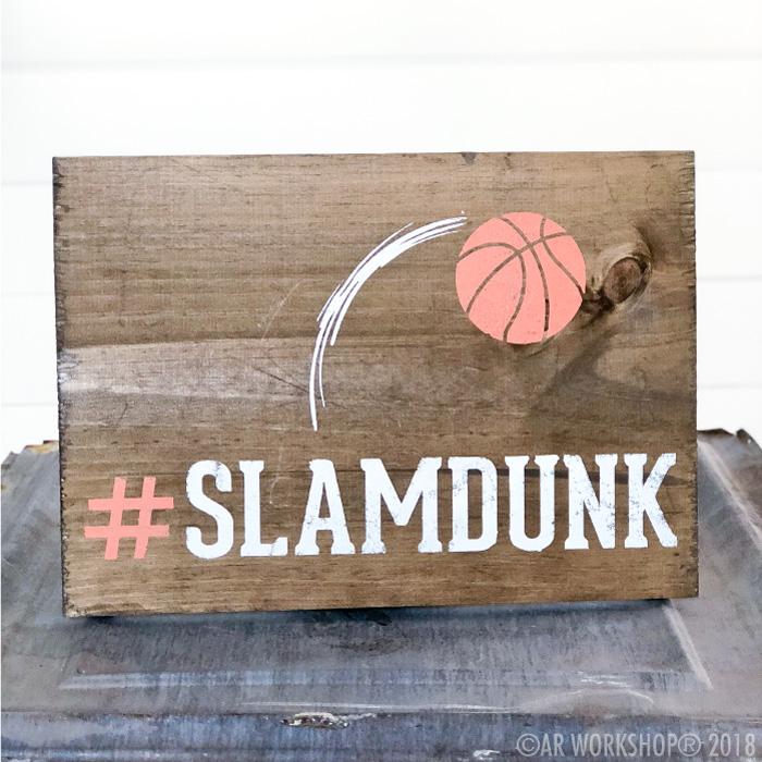 slamdunk basketball youth plank sign
