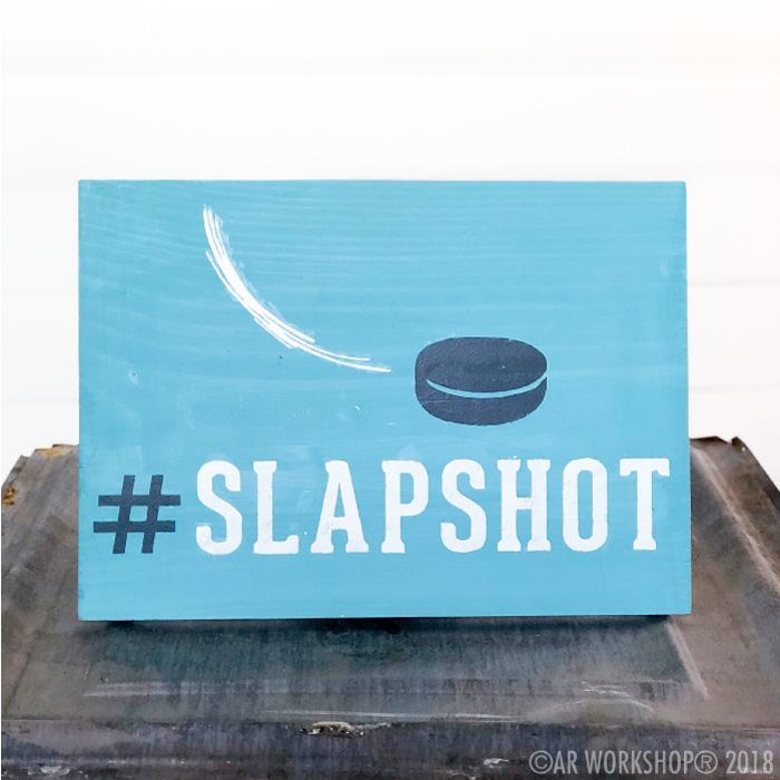 slapshot hockey youth plank sign