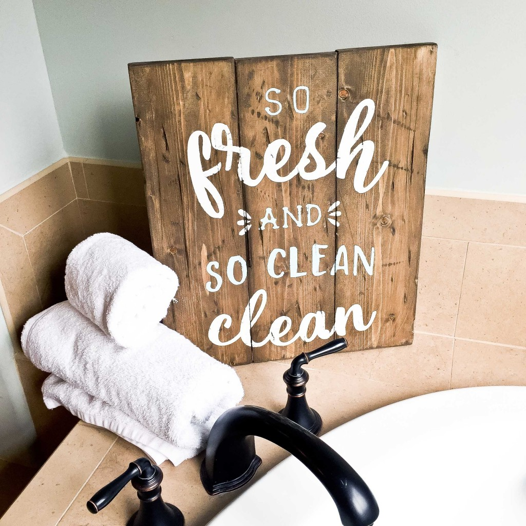 So Fresh and So Clean Clean Plank Sign - 14x19