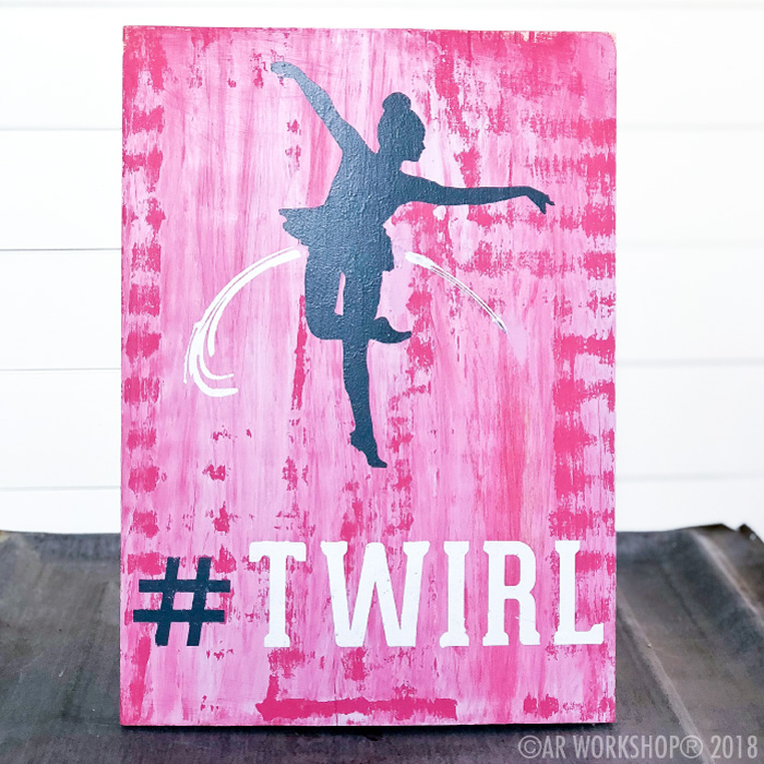 twirl dancing youth plank sign