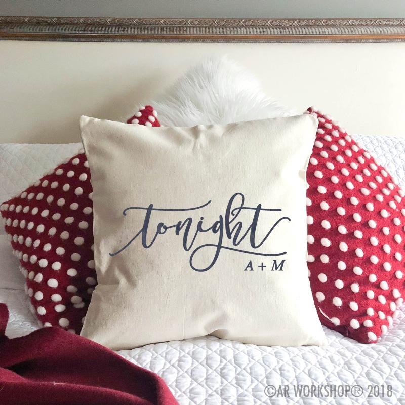 valentines tonight pillow