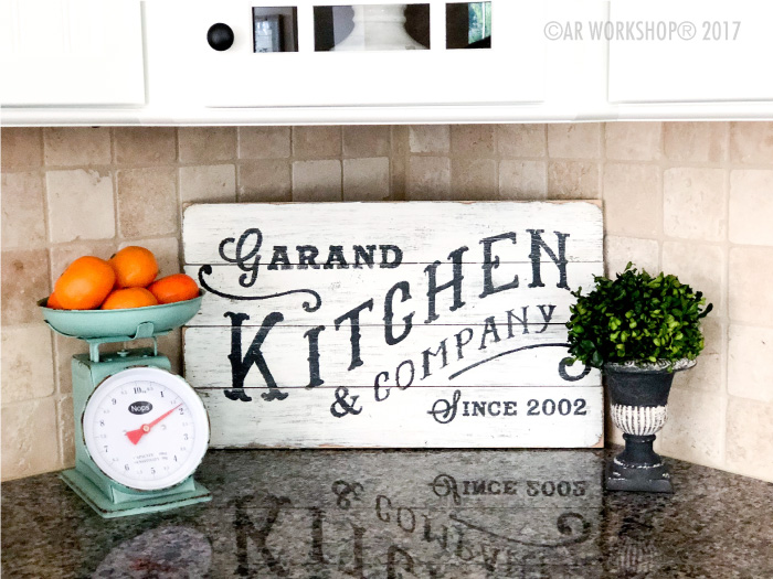 Kitchen and Company Established Plank Sign - 14x19