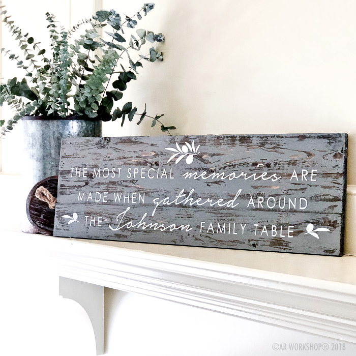 the most special memories are made plank wood sign - 10.5x32