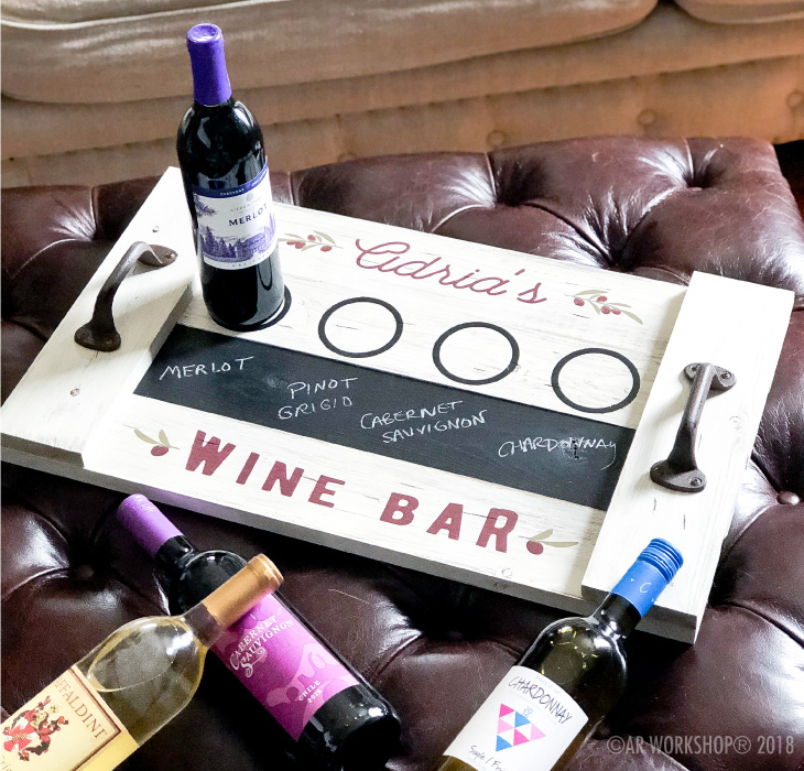 wine bar tasting wood tray 14x24