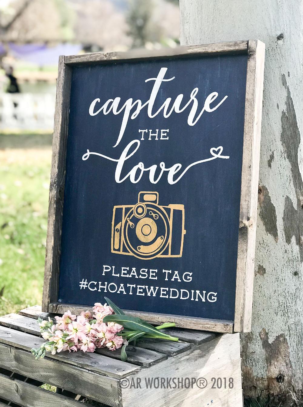 capture the love framed sign 18x21