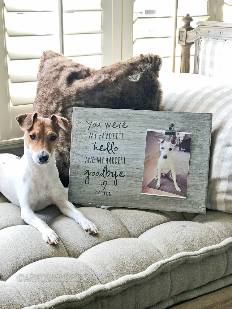 Favorite Hello Hardest Goodbye Pet Wood Photo Frame
