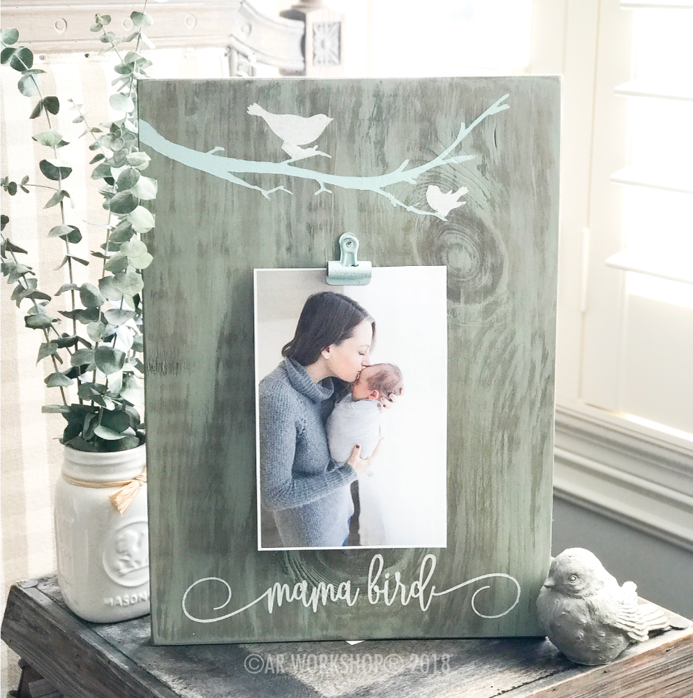 mama bird photo frame diy project mothers day
