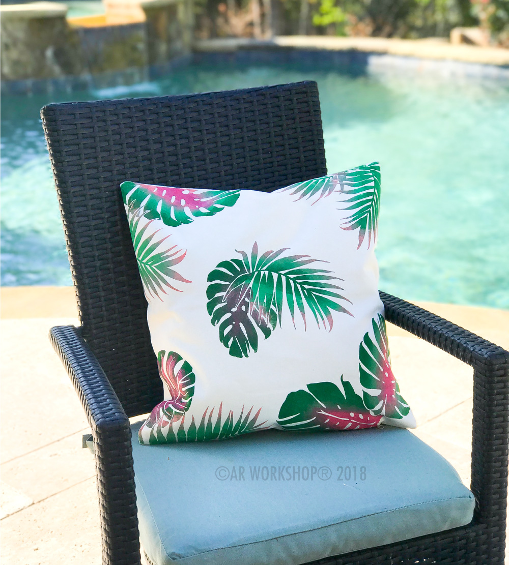 palm leaves pillow cover