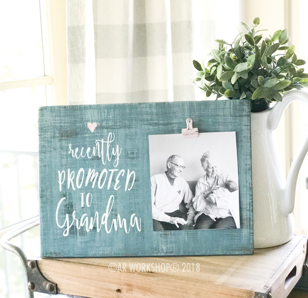 diy mothers day gift photo frame grandma