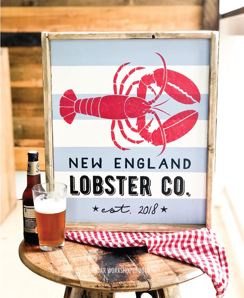 Lobster Co. Established framed sign 18x21