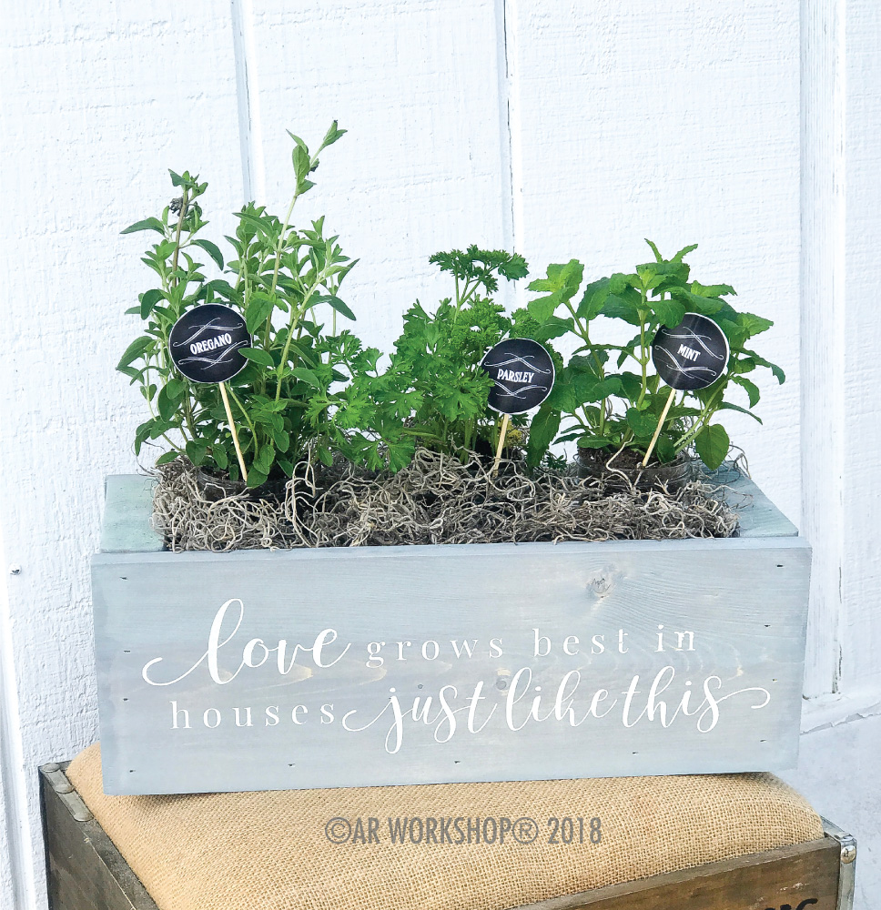 love grows best mini centerpiece box
