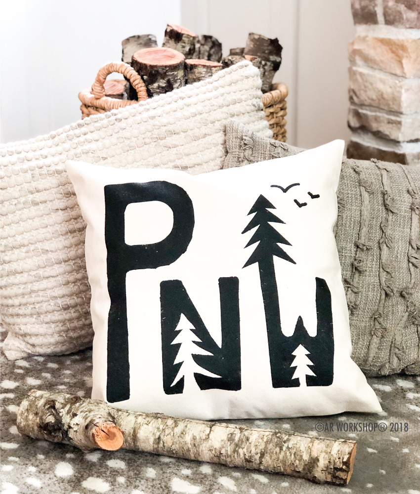 PNW Forest pillow cover
