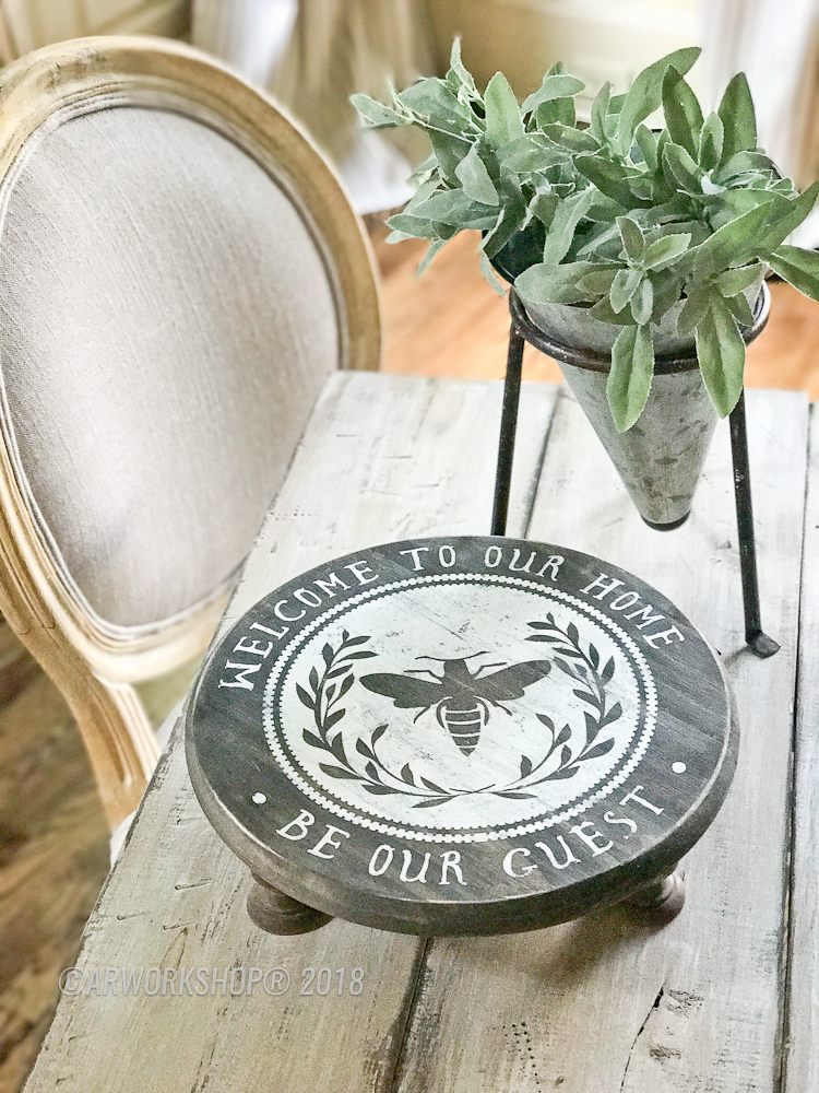 be our guest wood riser pedestal diy