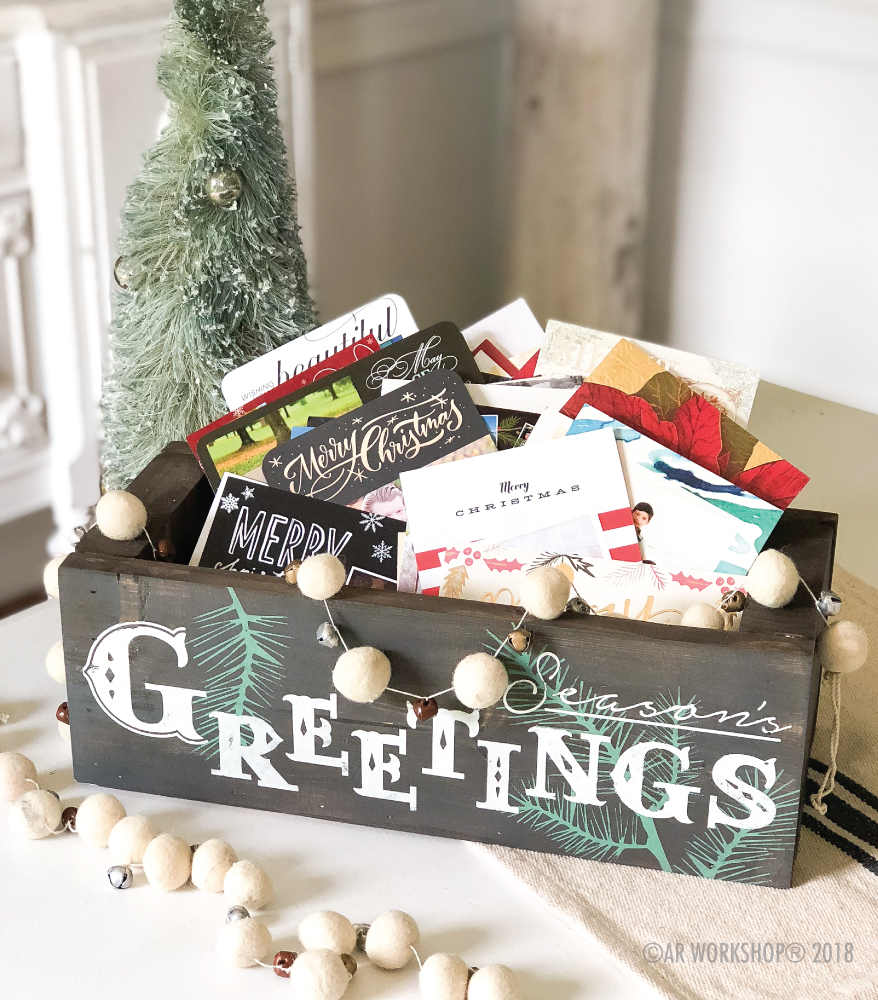 seasons greetings centerpiece box 16""