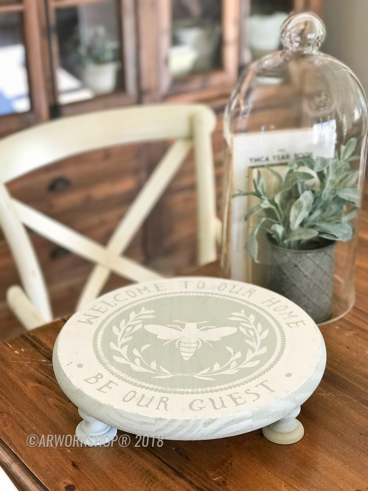 be our guest round pedestal tray