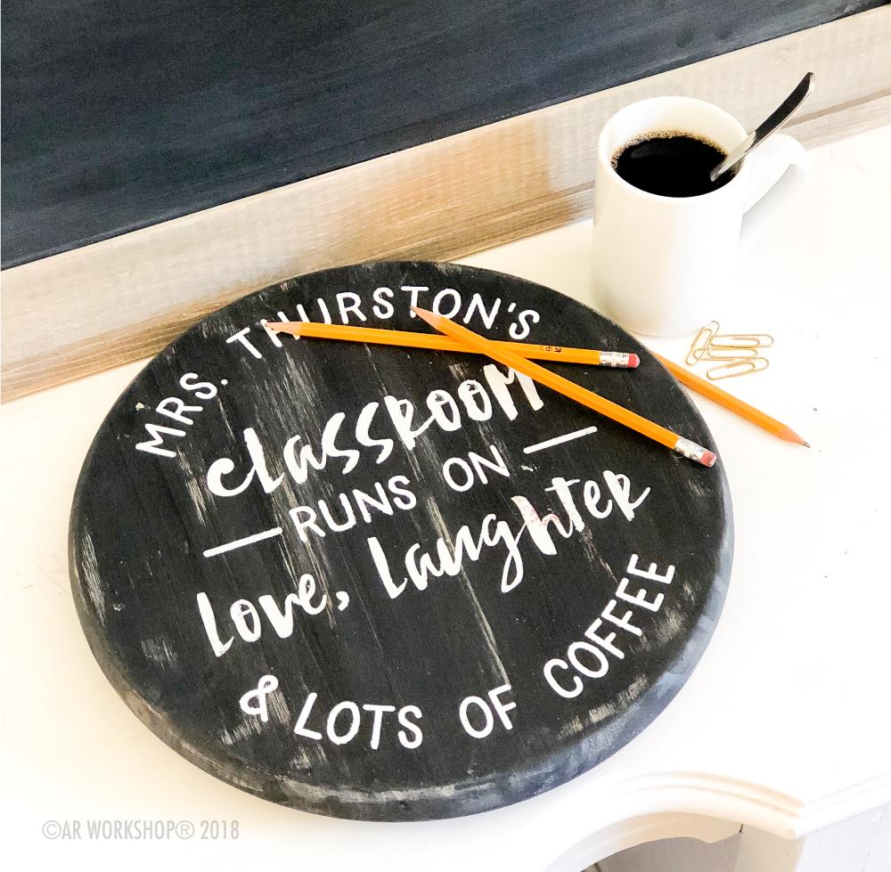 classroom runs on mini round lazy susan