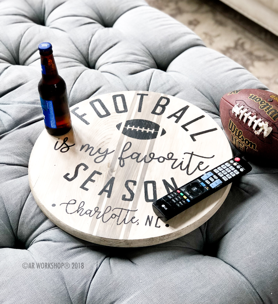 football is my favorite season city lazy susan