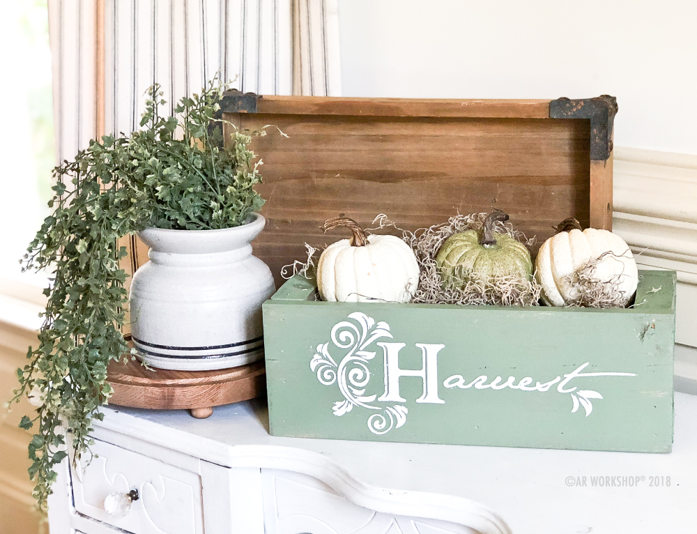 harvest flourish centerpiece box 16""