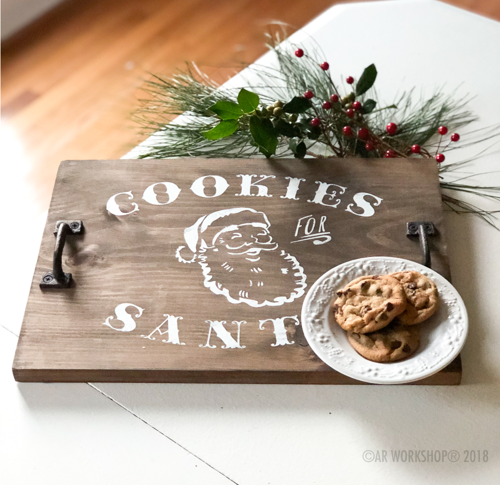 Cookies for Santa Small Plank tray 12x16