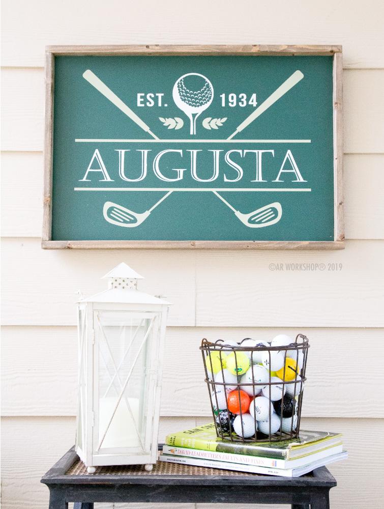 Golf Clubs Established Framed Sign 18x26