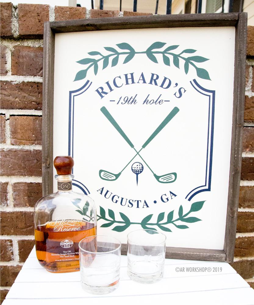 Golf Clubs Laurel Branch Framed Sign 18x21