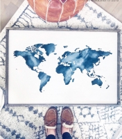 Oversized framed wood sign all ar workshop gallery world map silhouette oversized framed sign 2638 gumiabroncs Choice Image