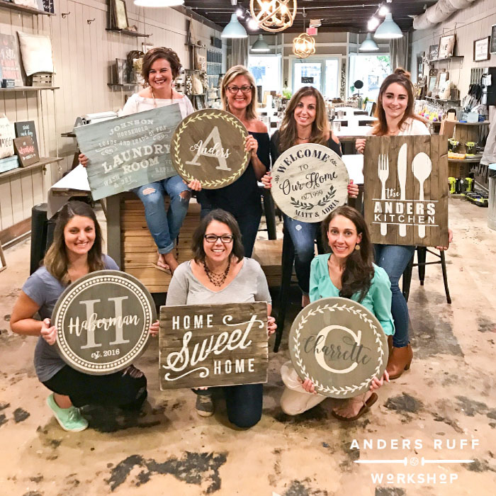 wood pallet sign lazy susan diy ladies night out