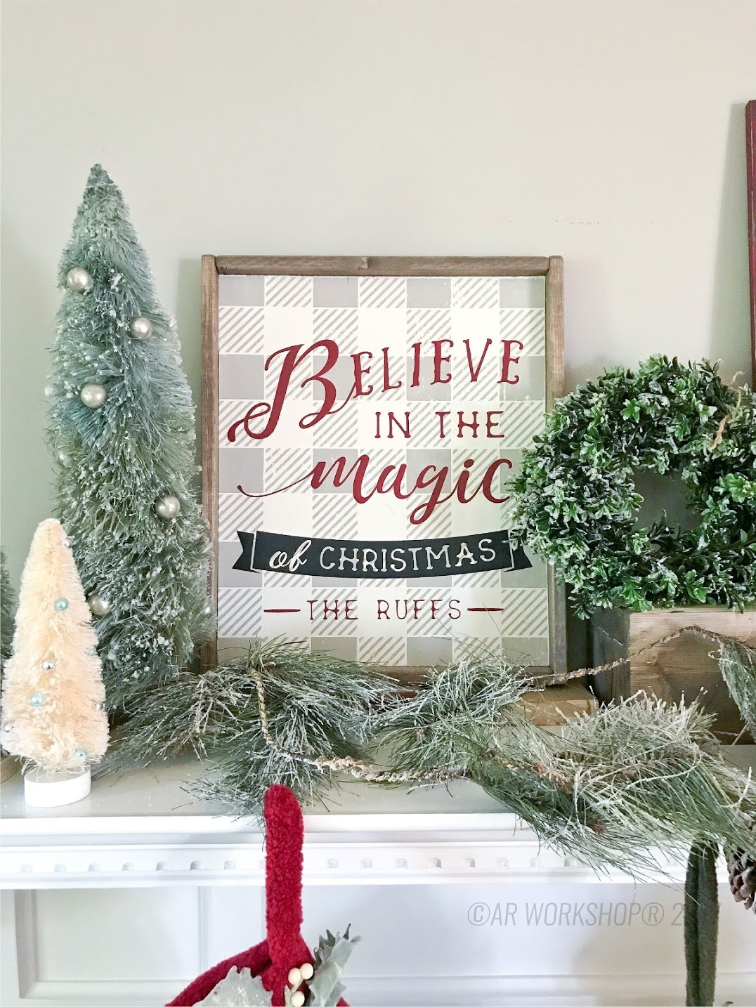 believe in the magic of christmas framed wood sign diy holiday