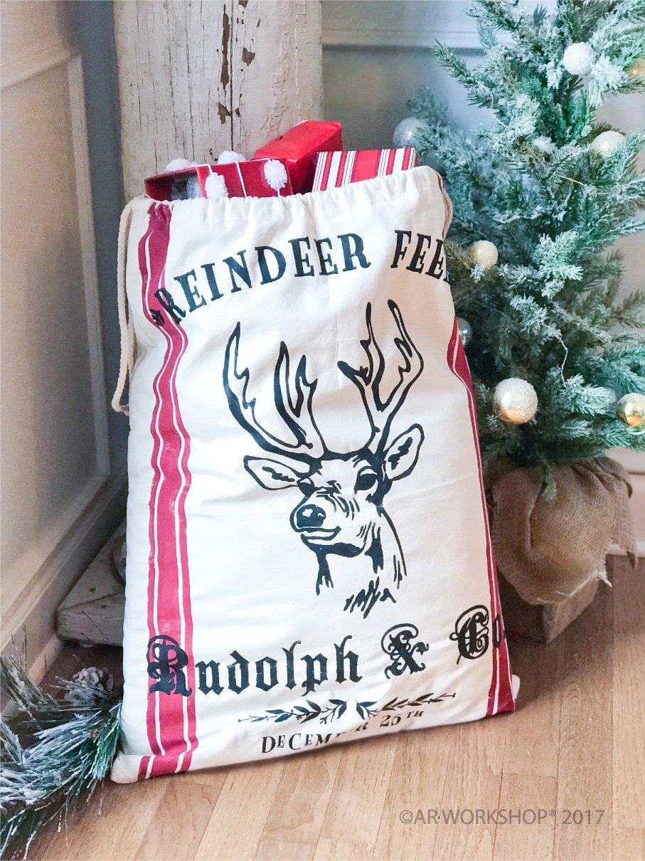 reindeer feed santa sack christmas