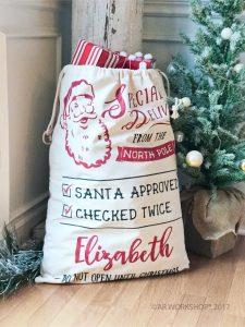 special delivery santa sack diy