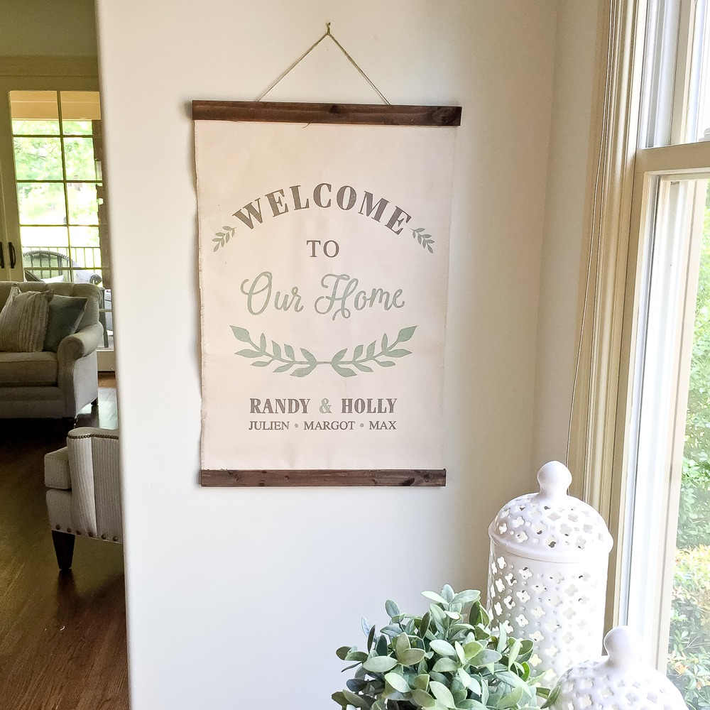 Welcome to our Home Canvas Wall Hanging - 20x30