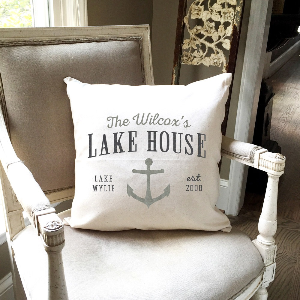 ar workshop custom lake house pillow