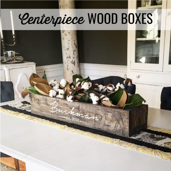 diy wood centerpiece box farmhouse style