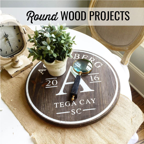 round wood sign workshop