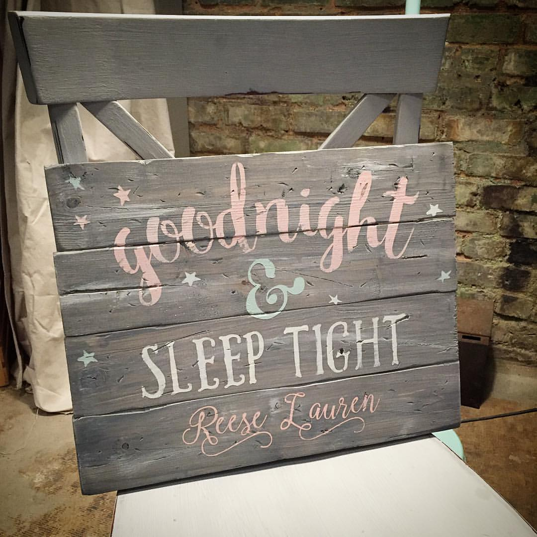 goodnight sleep tight wood sign ar workshop plank
