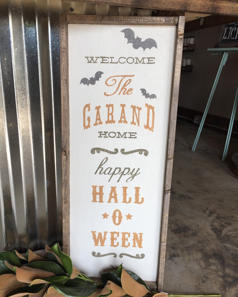 halloween wood sign ar workshop