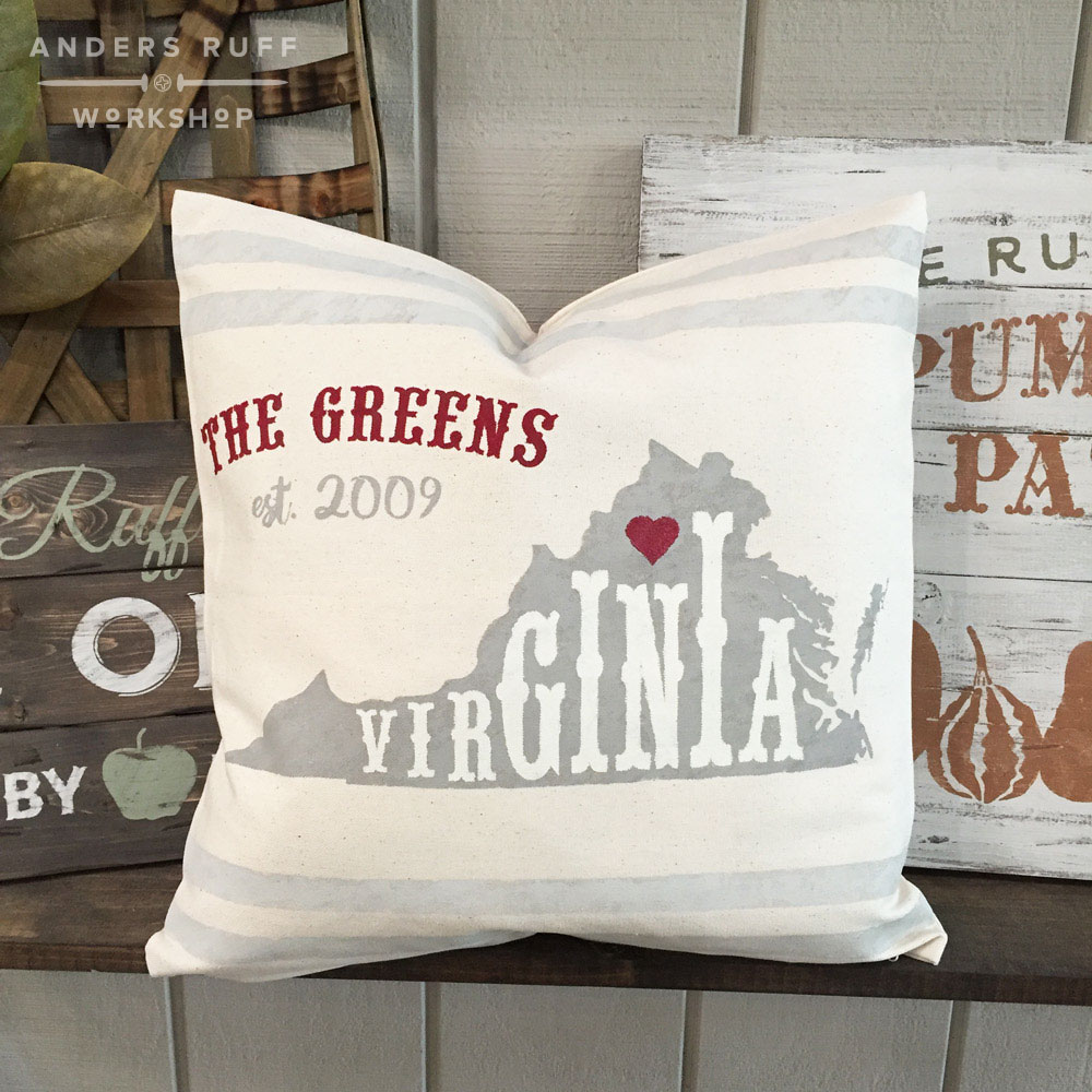 home state established pillow
