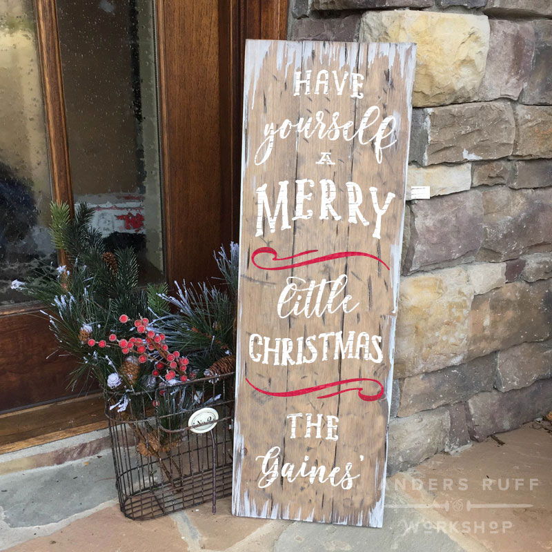 fixer upper wood plank christmas sign ar workshop