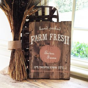 pumpkin patch wood sign ar workshop plank