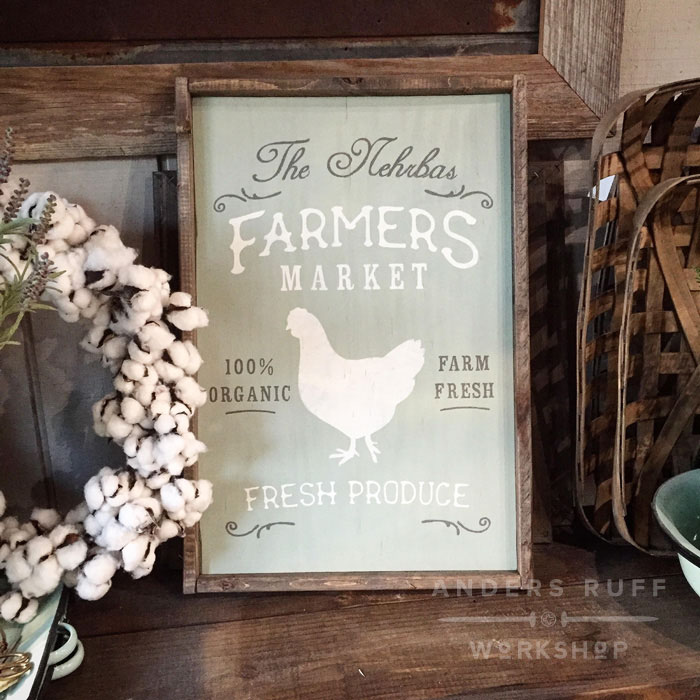 framed sign vintage farmhouse wood sign