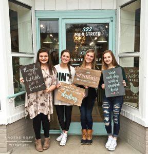teen wood sign class