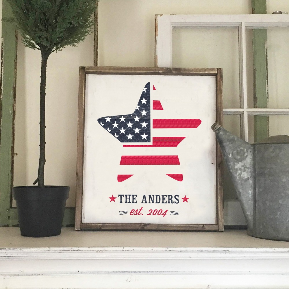 American Flag Sign Reclaimed wood sign